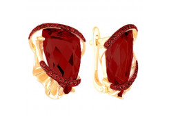Серьги из красного золота 585 пробы с ситалом