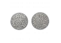 Серебряные cерьги классические с марказитом