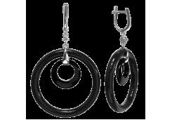 Серебряные cерьги висячие с агатом