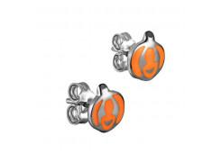 Серебряные cерьги пусеты (гвоздики) с эмалью