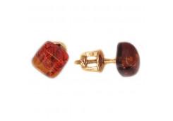 Серебряные серьги с янтарем 127684