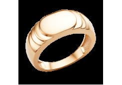 Печатка из красного золота 585 пробы