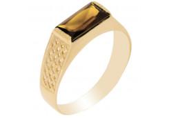 Золотые печатки с раух-топазом 91341