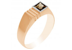 Золотые кольца с раух-топазом 110242
