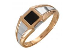 Кольца из золота, вставка оникс 131712