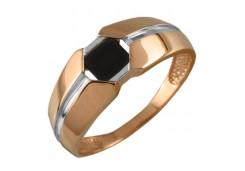 Кольца из золота, вставка оникс 131719