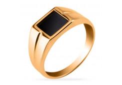 Кольца из золота, вставка оникс 131741