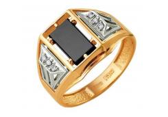 Кольца из золота, вставка оникс 91579