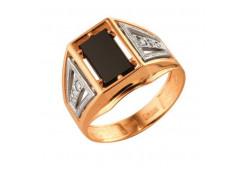Кольца из золота, вставка оникс 91496
