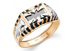 Кольца из золота, вставка оникс 129753