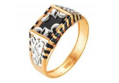 Кольца из золота, вставка оникс 91581