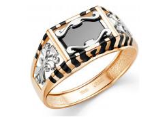 Кольца из золота, вставка оникс 129755