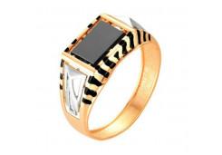 Кольца из золота, вставка оникс 91501