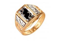 Кольца из золота, вставка оникс 91507