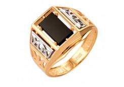 Кольца из золота, вставка оникс 91509