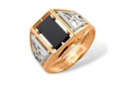 Кольца из золота, вставка оникс 91511