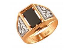 Кольца из золота, вставка оникс 91512