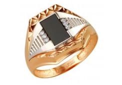 Кольца из золота, вставка оникс 129763