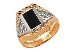 Кольца из золота, вставка оникс 129765