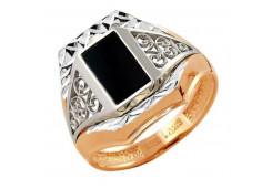 Кольца из золота, вставка оникс 129943