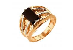 Кольца из золота, вставка оникс 91515