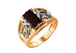 Кольца из золота, вставка оникс 91516