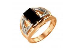 Кольца из золота, вставка оникс 91517