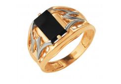 Кольца из золота, вставка оникс 91519