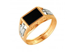 Кольца из золота, вставка оникс 91523