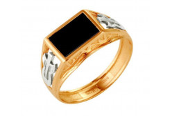 Кольца из золота, вставка оникс 91528