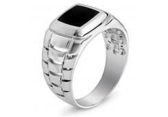 Серебряные кольца с агатом 116370