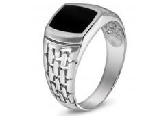 Серебряные кольца с агатом 116371