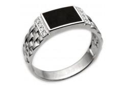 Серебряные кольца с агатом 116372