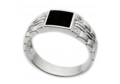 Серебряные кольца с агатом 116373