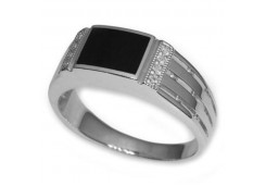 Серебряные кольца с агатом 116375