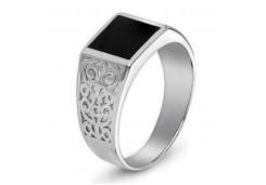 Серебряные кольца с агатом 116376