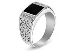 Серебряные кольца с агатом 116377