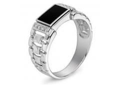 Серебряные кольца с агатом 129226