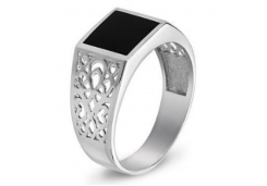 Серебряные кольца с агатом 129230