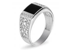 Серебряные кольца с агатом 129231