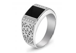 Серебряные кольца с агатом 129232