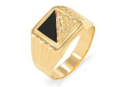 Печатка из золота с фианитом