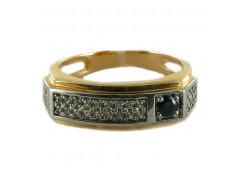 Мужские кольца из золота с цветными фианитами 99937