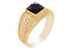Мужские кольца из золота с цветными фианитами 111754