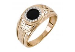 Мужские кольца из золота с цветными фианитами 125120