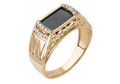 Женские золотые кольца с цветными фианитами 131811