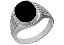 Печатка из серебра с эмалью