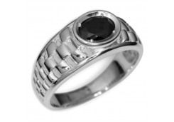 Серебряные печатки с черными фианитами 126997