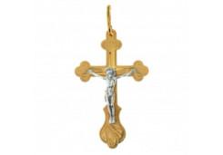 Крест из красного золота 585 пробы