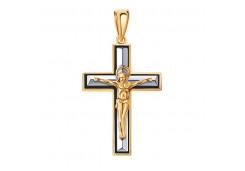 Крест из золота с эмалью